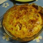 Quiche de bacon e cogumelos