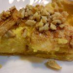 Tarte de maçã e amêndoa com farinha Custard