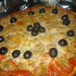 Pizza de Atum e Azeitonas