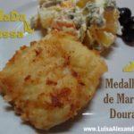 Salada Russa com Medalhões de Maruca Dourados