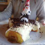 Tronco de Natal com cobertura de Chocolate Branco