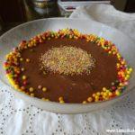 Doce de Mousse de Chocolate Caseira com Natas e Bolacha